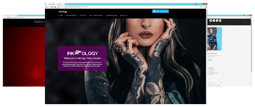 Photo of Example of Custom Tattoo Studio Websites